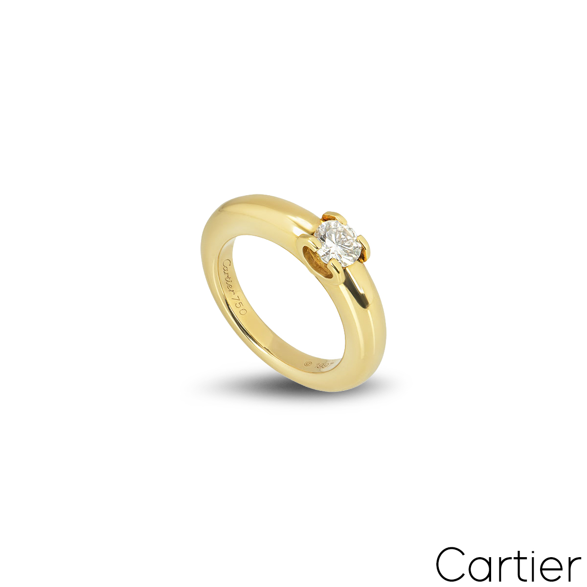Cartier Yellow Gold Diamond Ring 0.40ct G/VS1